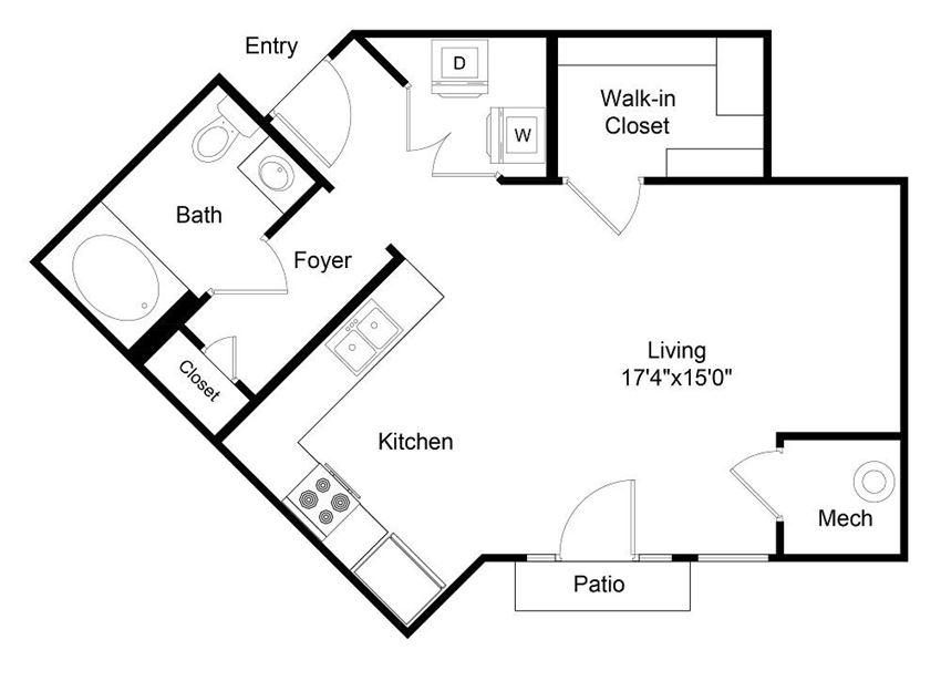 City Gate Berkeley Studio floor plan