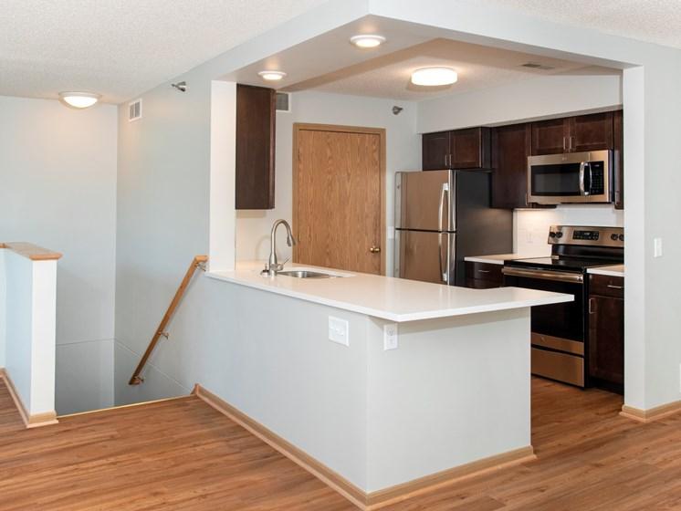 the pine beautiful kitchen espresso cabinets