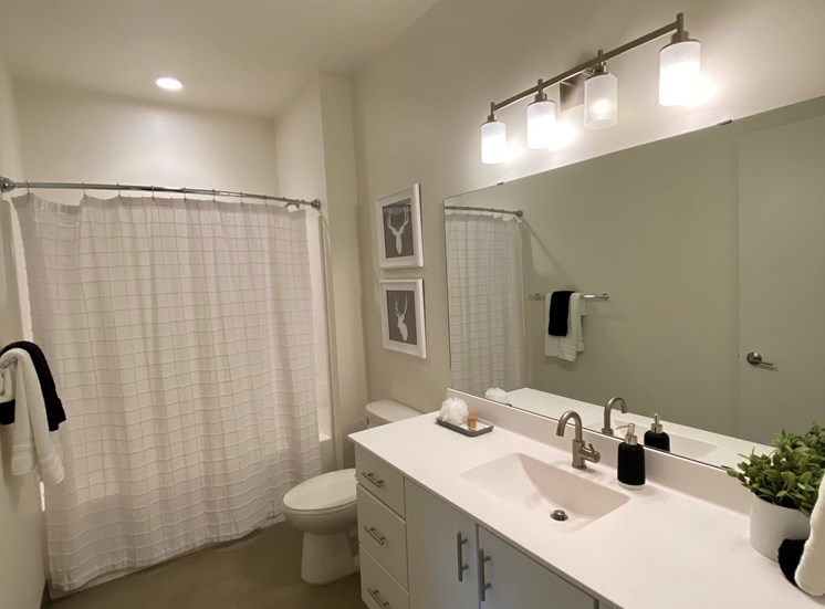 Large Comfortable Bathroom at 700 Central Apartments, MN, 55414
