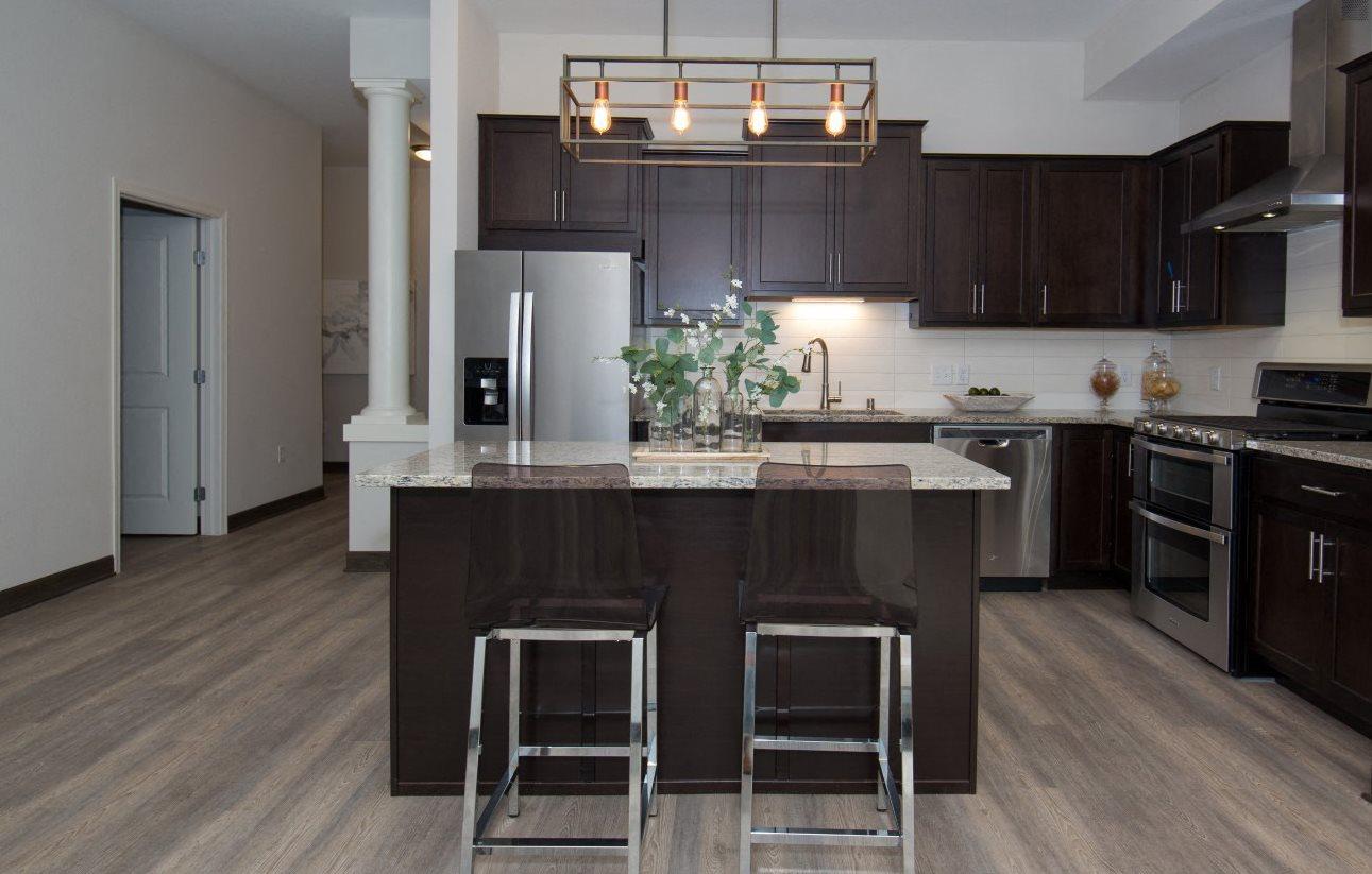Model_kitchen at Birdtown Flats, Robbinsdale, 55422