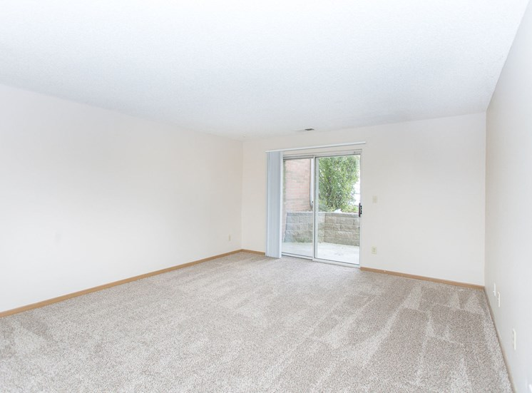 vacant living room with balcony