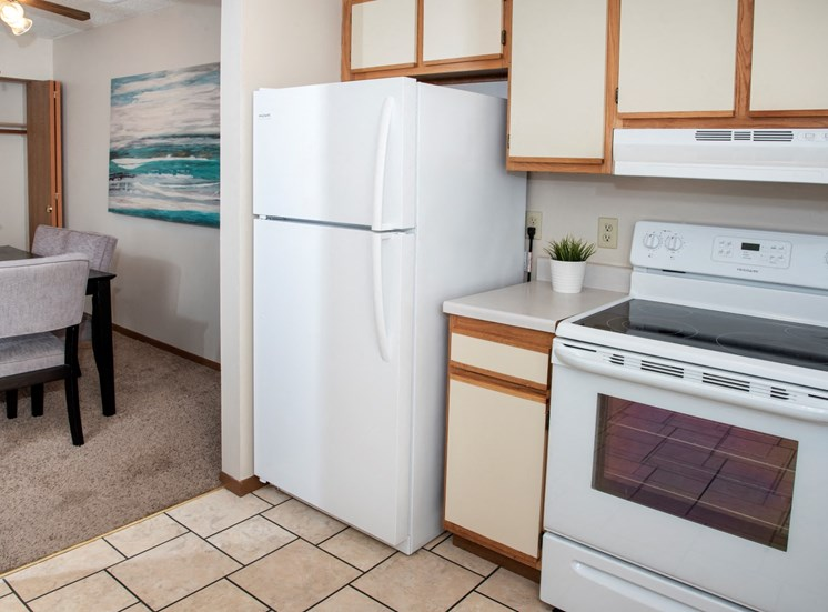 Classic 2 bedroom, 1.5 bath, kitchen with lots of cabinet space