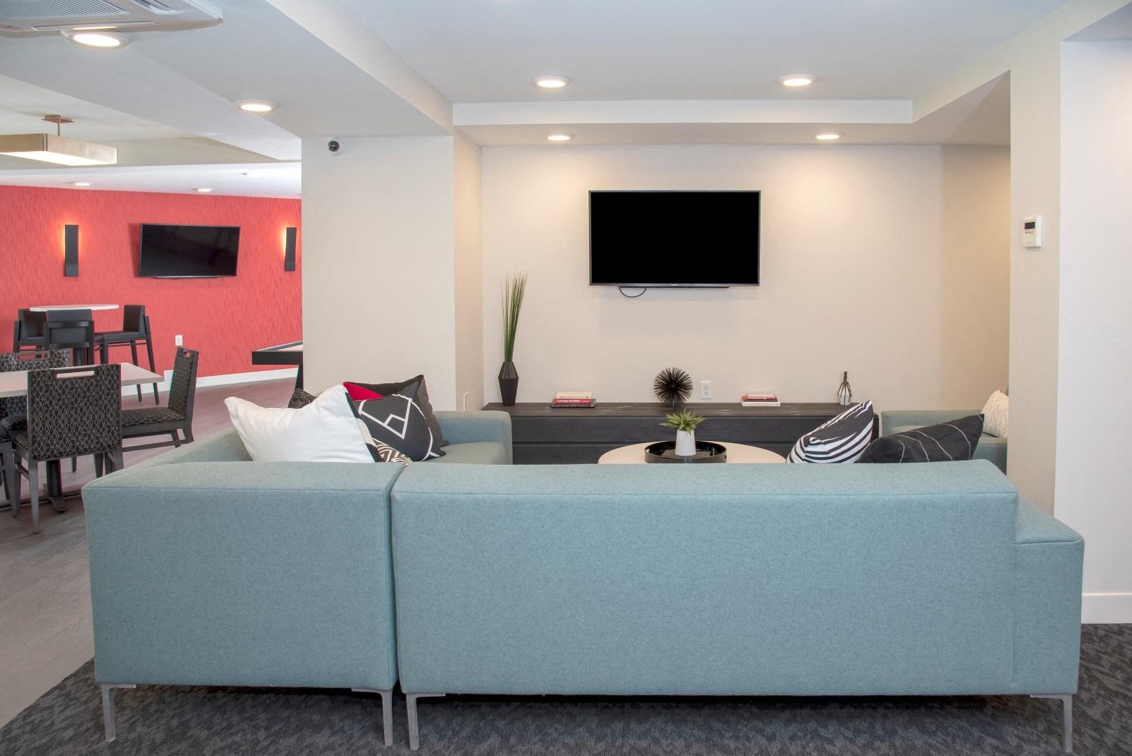 Community Lounge seating at Eagan Place Apartments, Eagan, MN