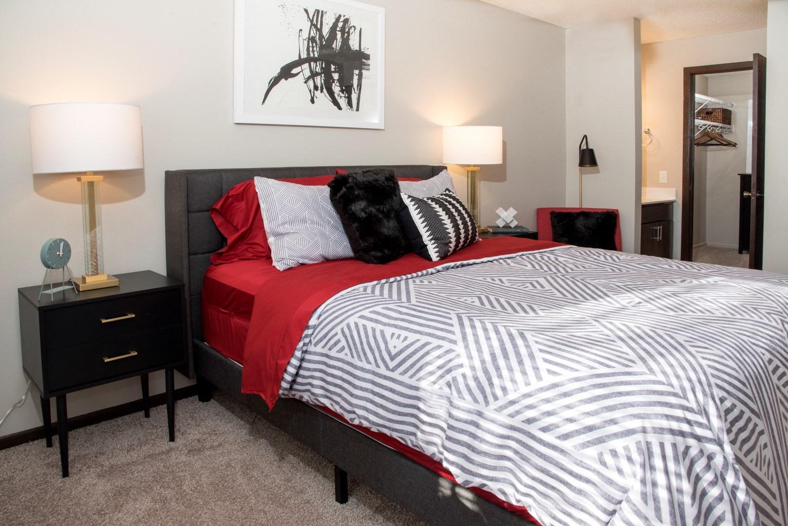 Large Comfortable Bedrooms  at Eagan Place Apartments, Eagan, 55123