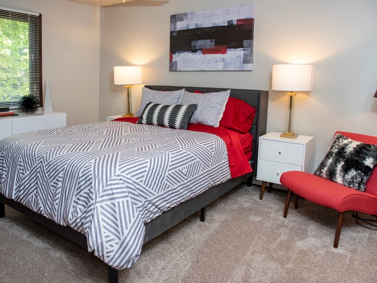 Master bedroom at Eagan Place Apartments, Eagan, MN