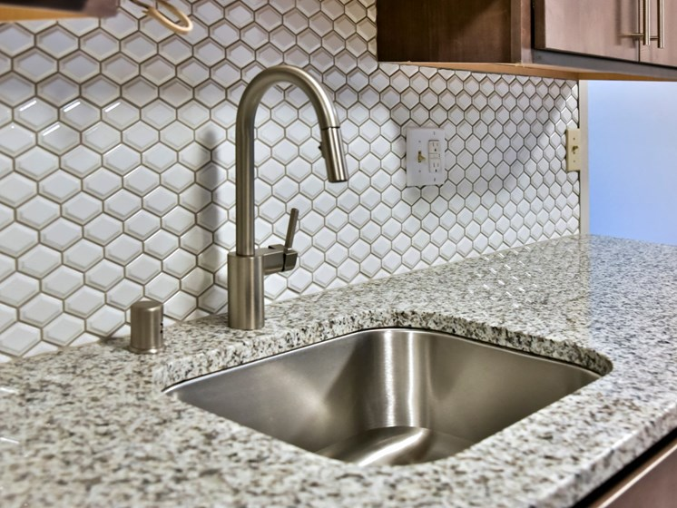 Stainless Steel Kitchen Sink at Eagan Place Apartments, Eagan, MN