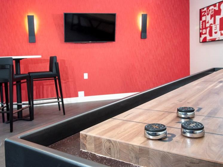 shuffleboard table and gaming at Eagan Place Apartments, Eagan, MN