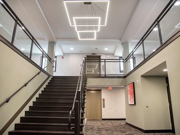 Staircase at Eagan Place Apartments, Eagan, MN