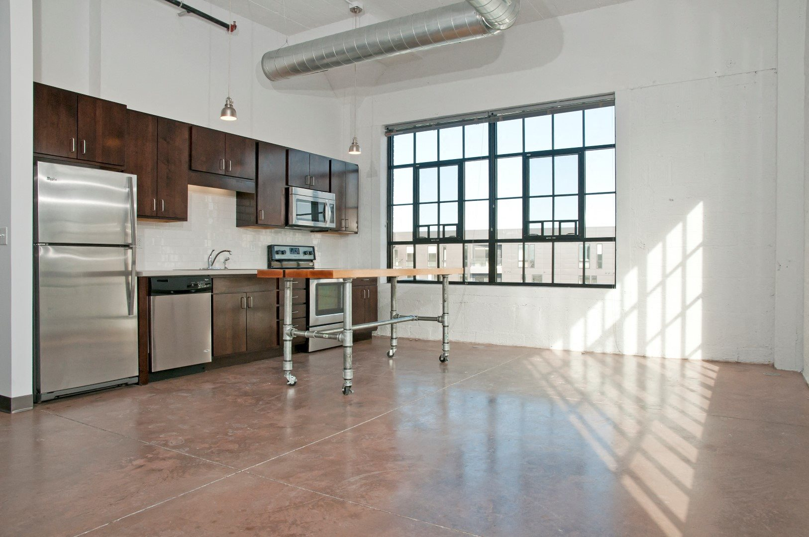 Gurley Lofts Vacant Model Kitchen