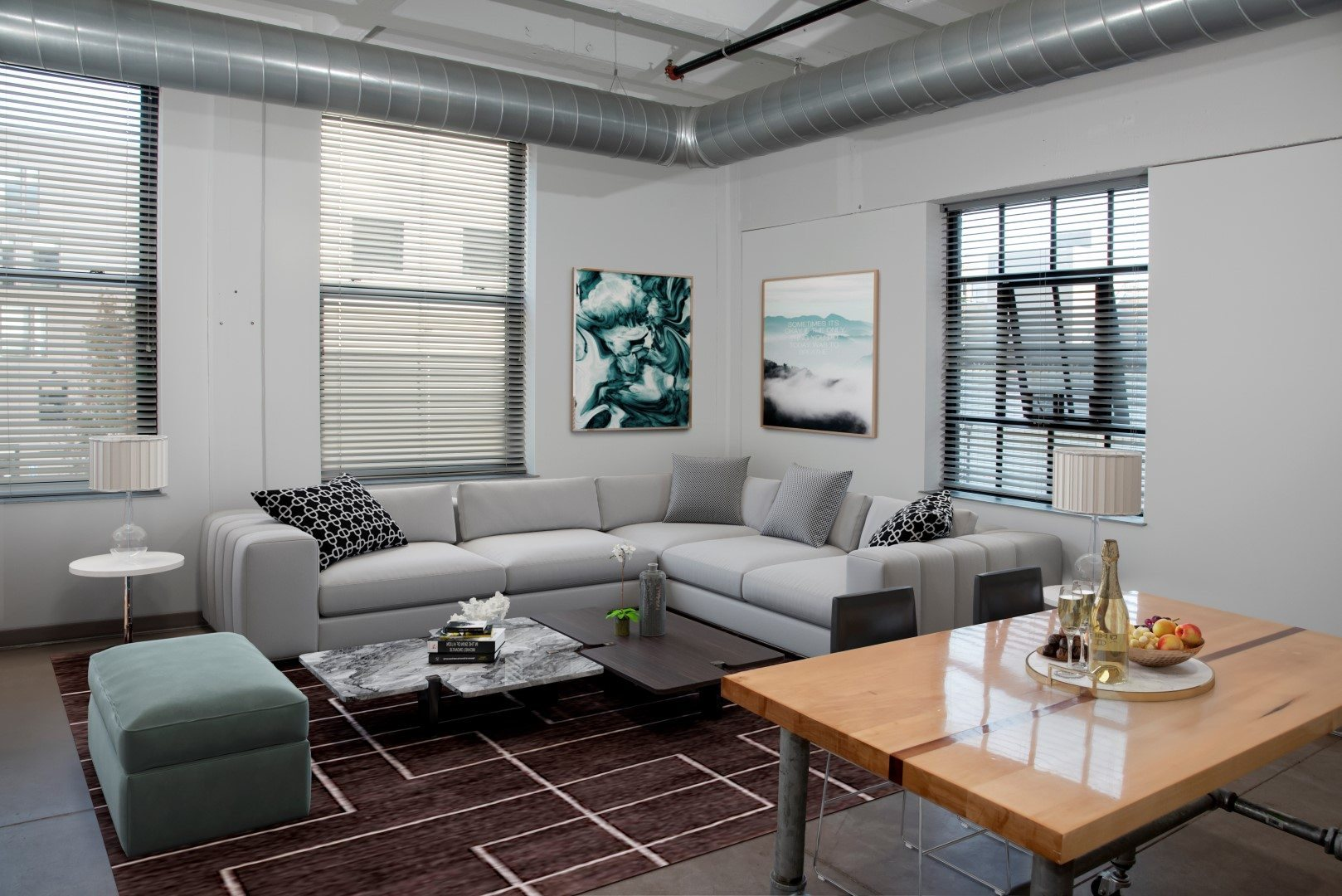Gurley Lofts two bedroom living area