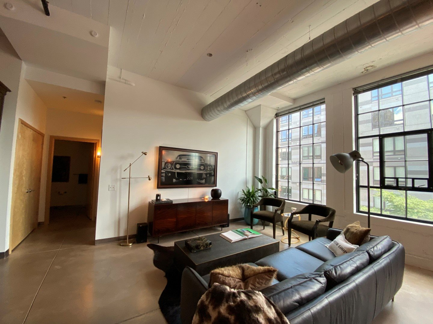 Gurley Lofts one bedroom living room