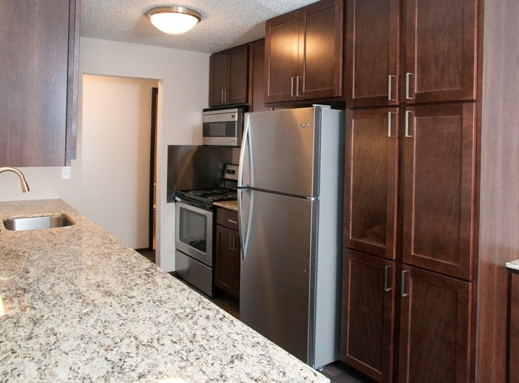 New Counter Tops and Cabinets at Eden Glen, Eden Prairie, Minnesota