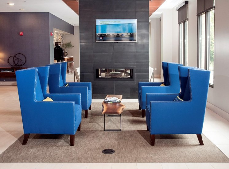 Clubhouse with Fireplace at Martin Blu, Eden Prairie, 55344