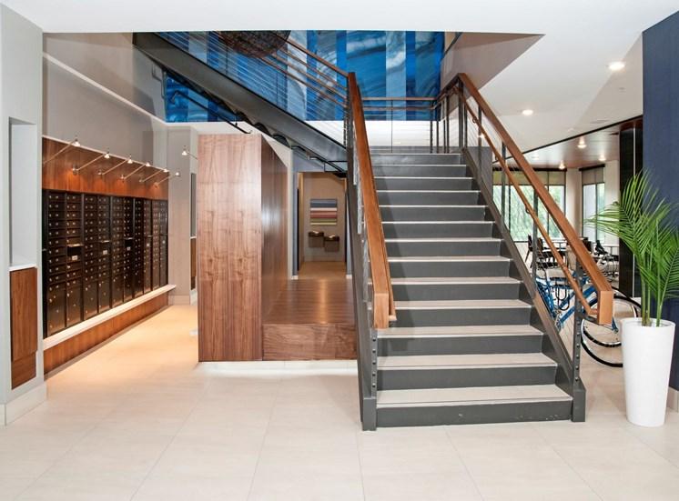 Stylish Lobby at Martin Blu, Eden Prairie