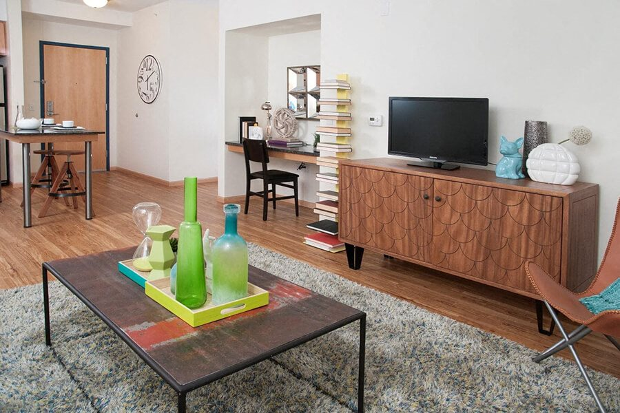 Built-in Desk and Shelving at Third North, Minnesota, 55401