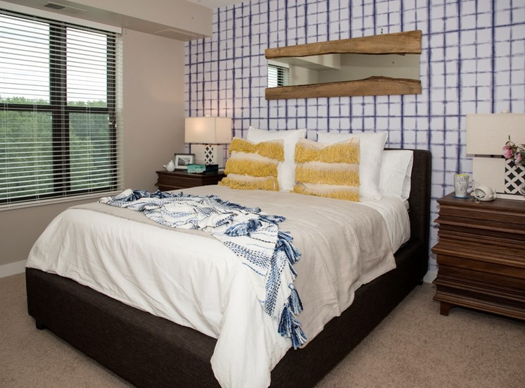 Large bedroom with walk-in closet at MartinBlu apartments