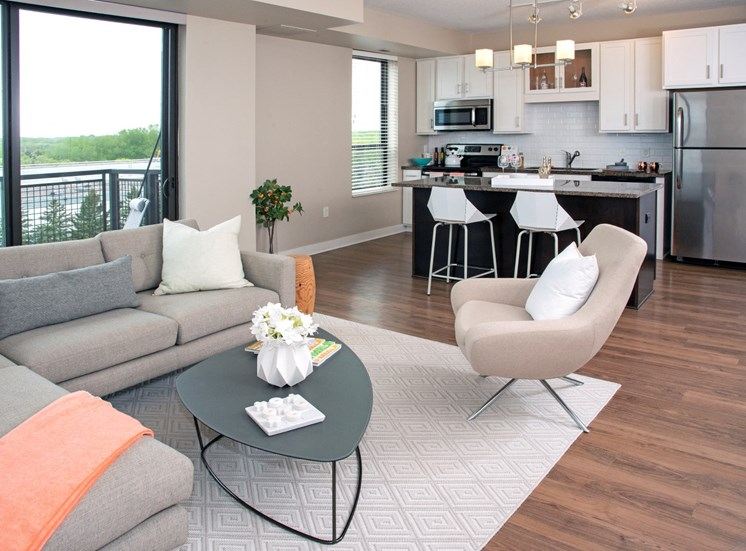 MartinBluApartments_2BR_Navy-living-kitchen