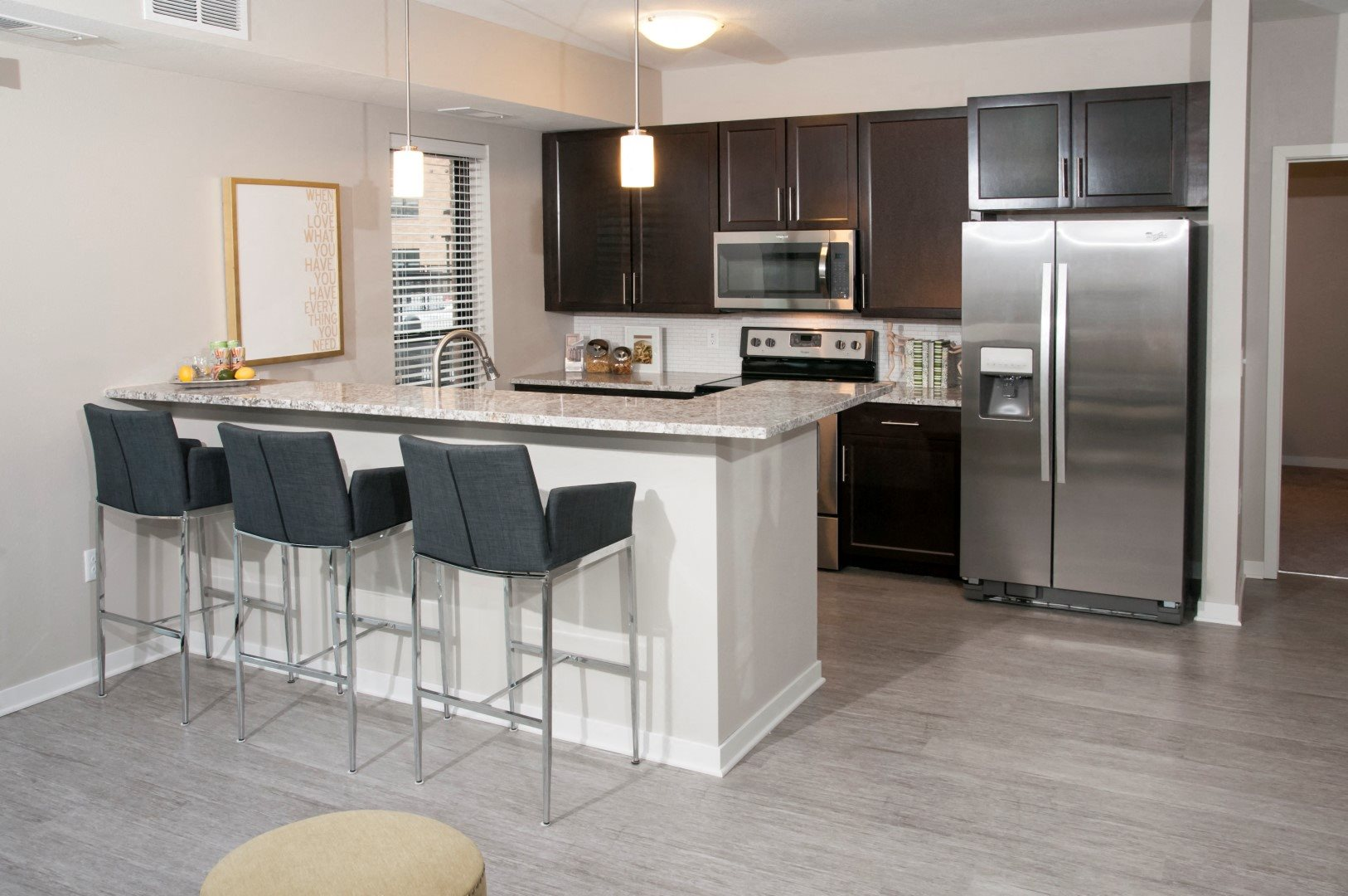 The Axis Renovated Apartments with Separate Kitchens: Gas Ranges, Microwaves, Dishwashers and Garbage Disposals