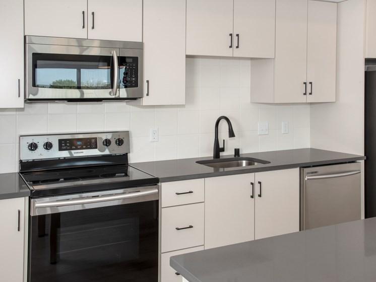Modular Kitchens at The Hill Apartments, Saint Paul, Minnesota