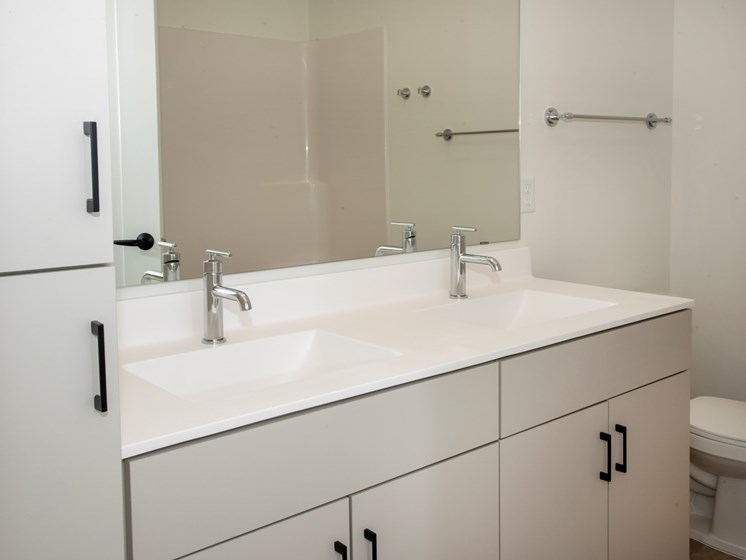 Bathroom Finishes at The Hill Apartments, Minnesota, 55103