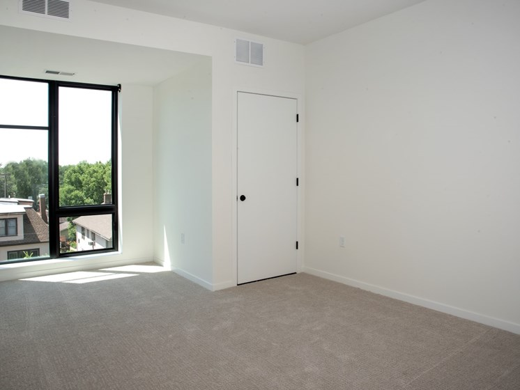 Beautiful Bright Bedroom With Wide Windows at The Hill Apartments, Saint Paul, MN, 55103