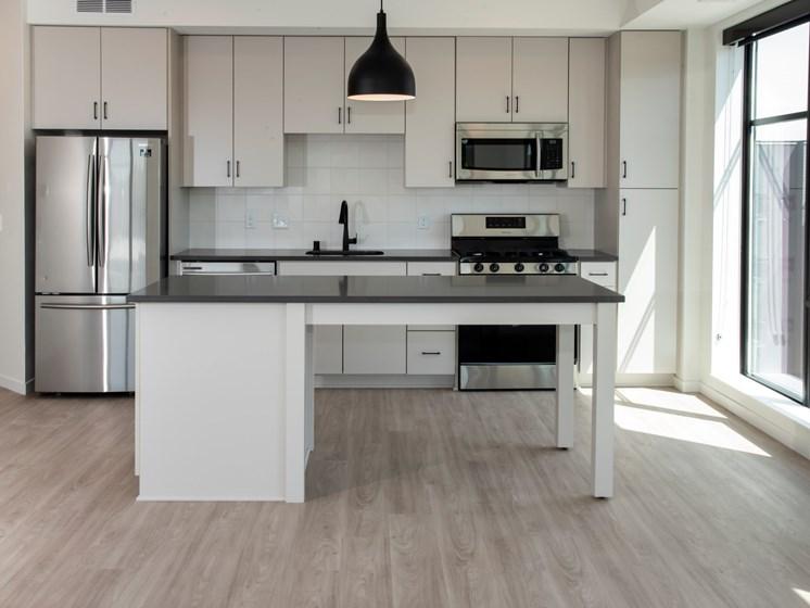 Spacious Kitchen at The Hill Apartments, Saint Paul, 55103