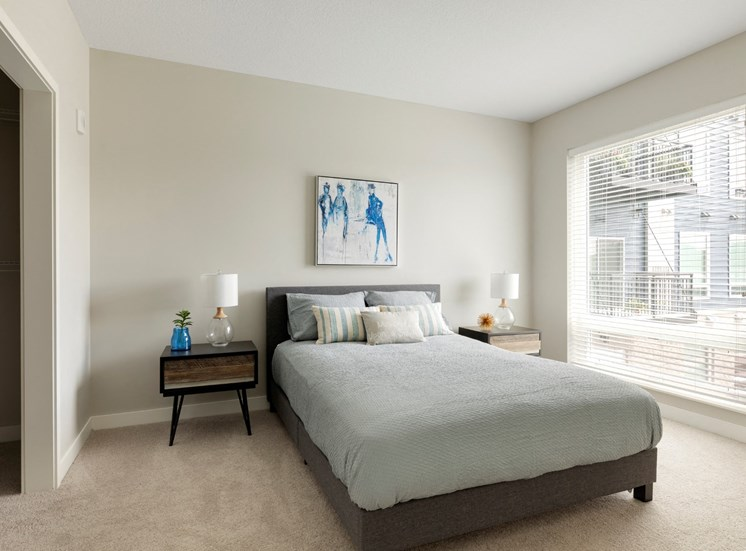 second bedroom at the liberty apartments and town-homes in golden valley mn