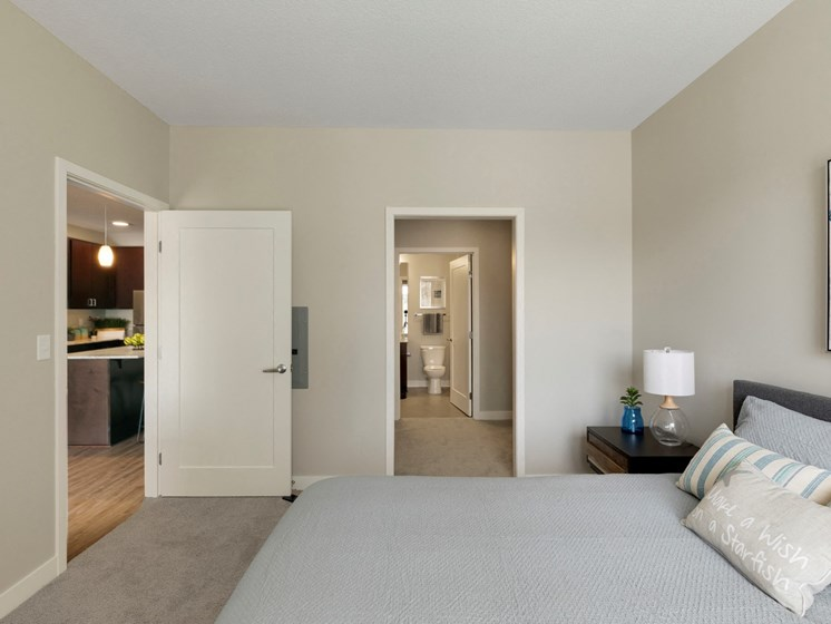 second bedroom area at the liberty apartments in golden valley Minnesota