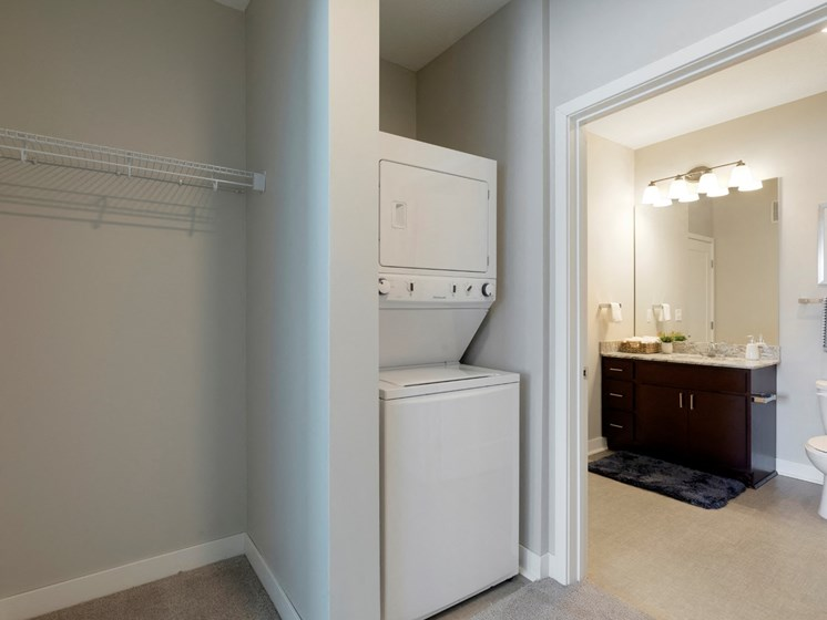 laundry area at the liberty apartments in golden valley mn