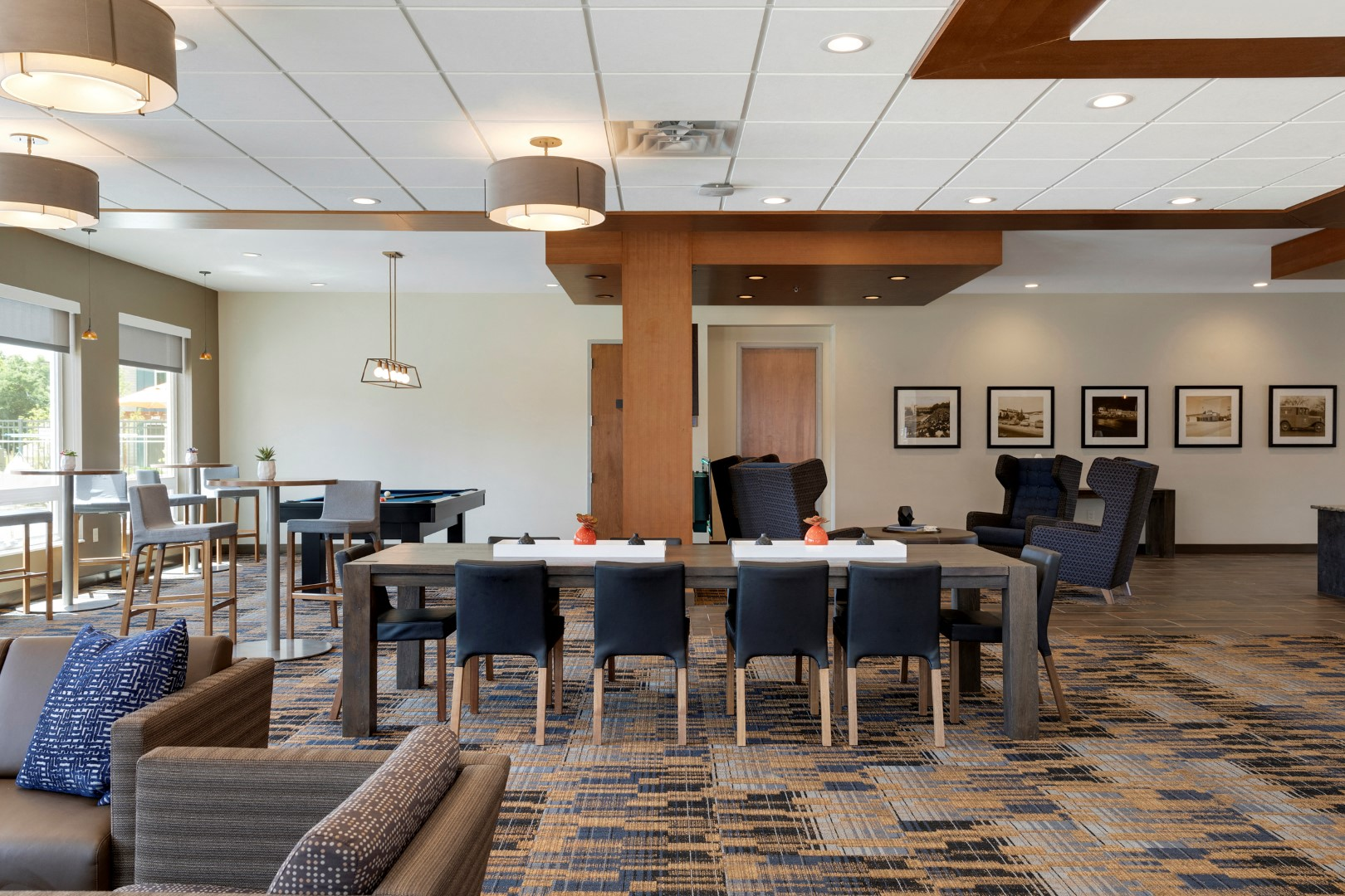 clubhouse with game tables at the liberty townhouses in golden valley mn