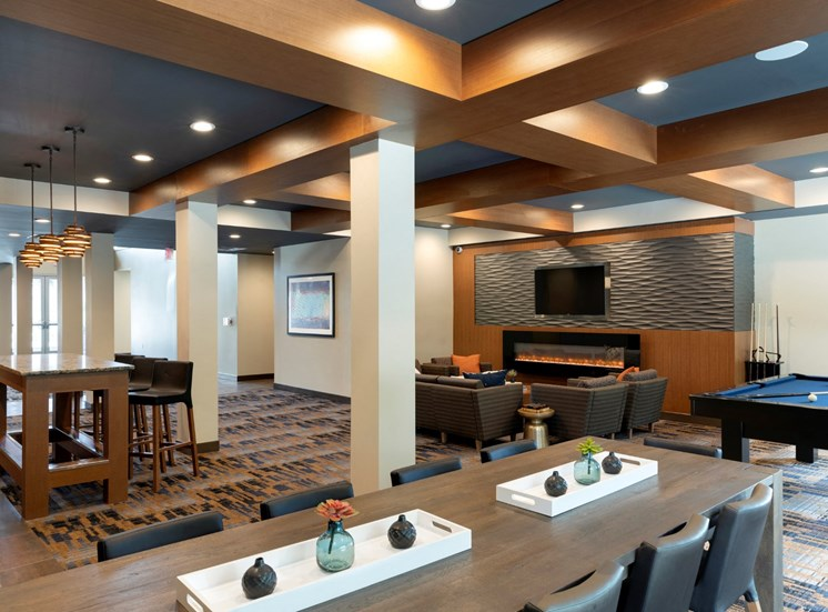 large clubroom at the liberty apartments and town-homes in golden valley mn