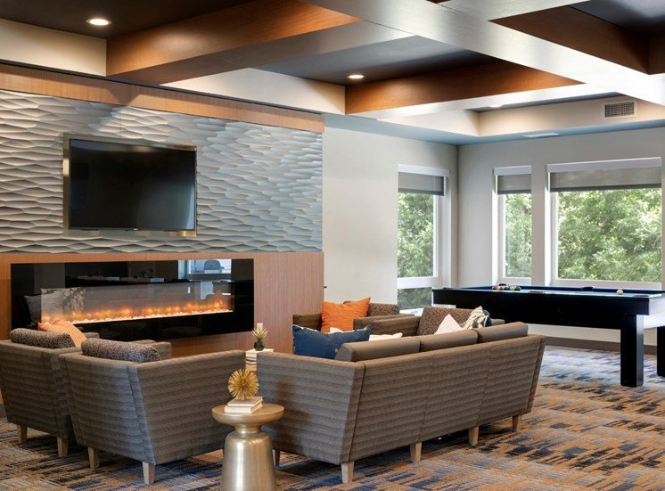 clubroom group seating area at the liberty apartments in golden valley minnesota