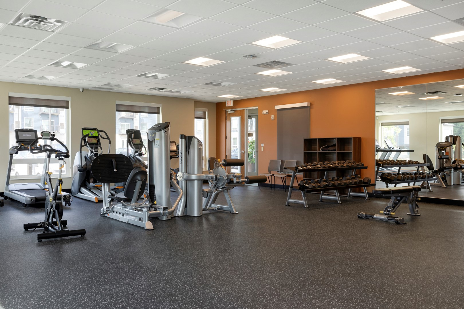 strength equipment in the fitness center at the liberty apartments in golden valley MN