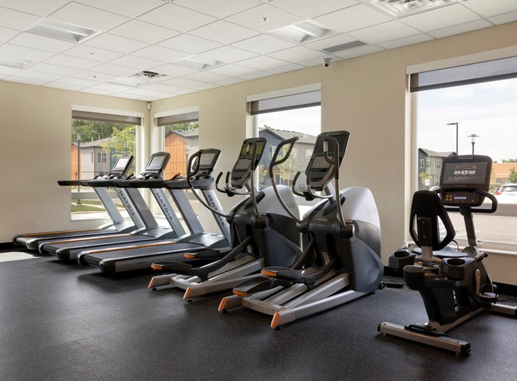 cardio equipment in the fitness center at the liberty apartments in golden valley MN