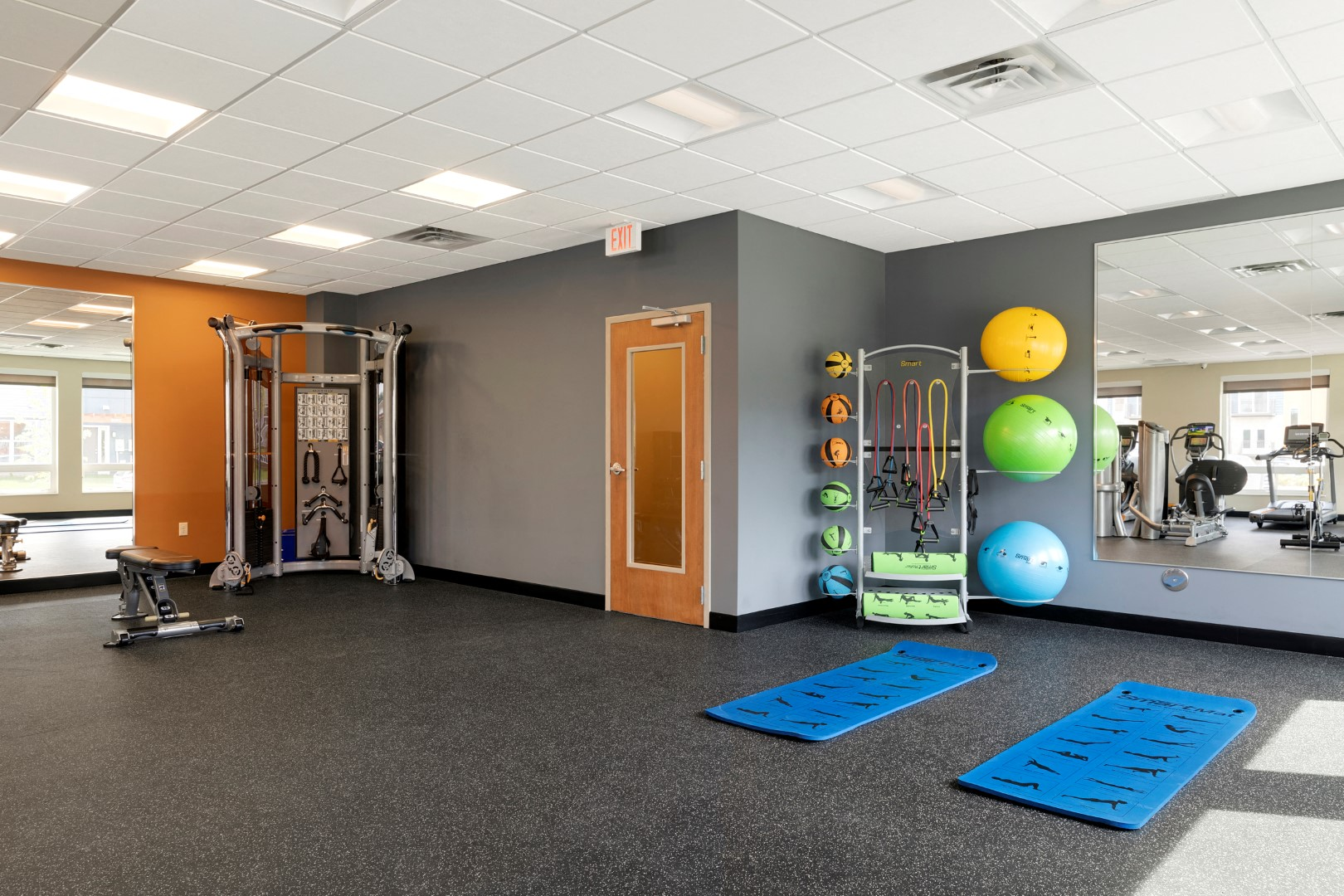 fitness center at the liberty apartments in golden valley MN