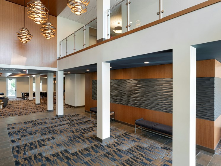 lobby at the liberty apartments and town-homes in golden valley mn