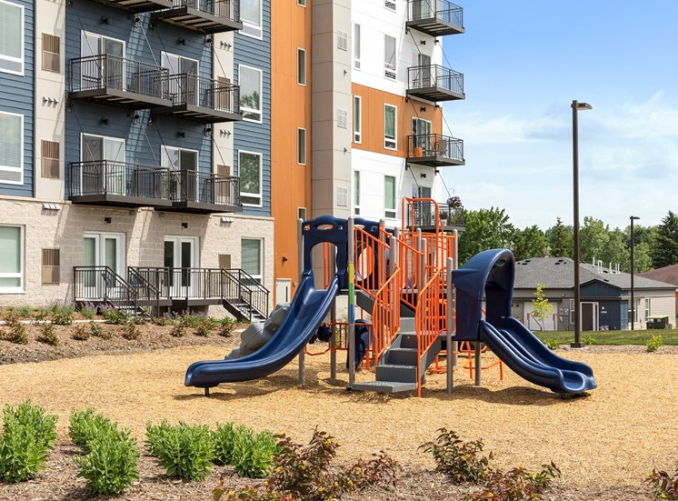 childrens play area at the liberty apartments and town homes in golden valley mn