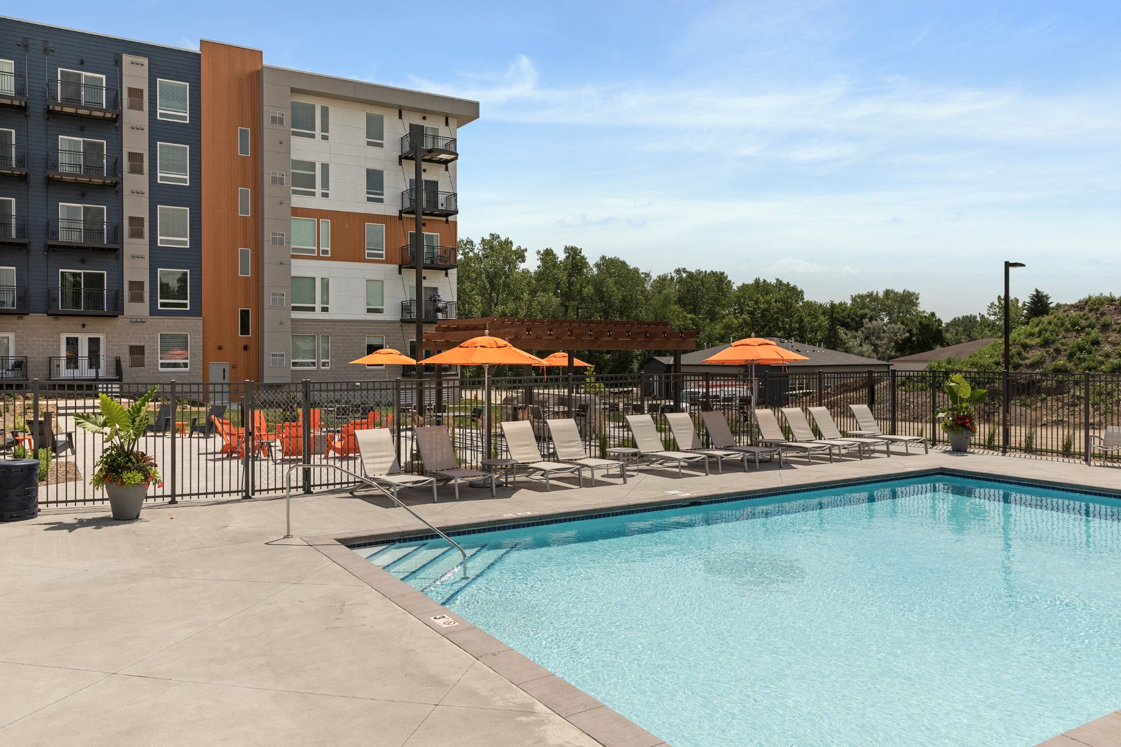 swimming pool at the liberty apartments and townhomes in golden valley minnesota