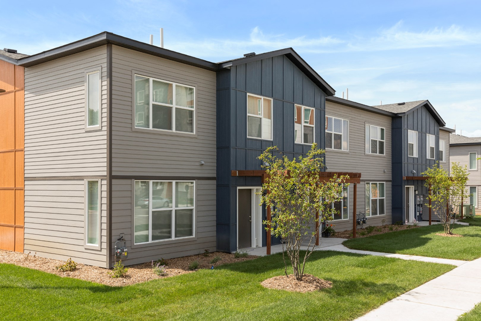 town home exterior at the liberty apartments in golden valley Minnesota