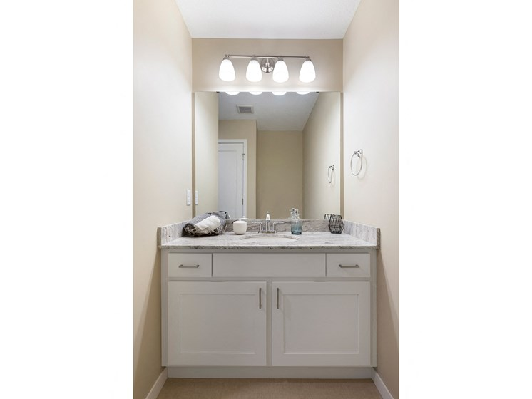 bathroom vanity at the liberty apartments and townhomes in golden valley minnesota