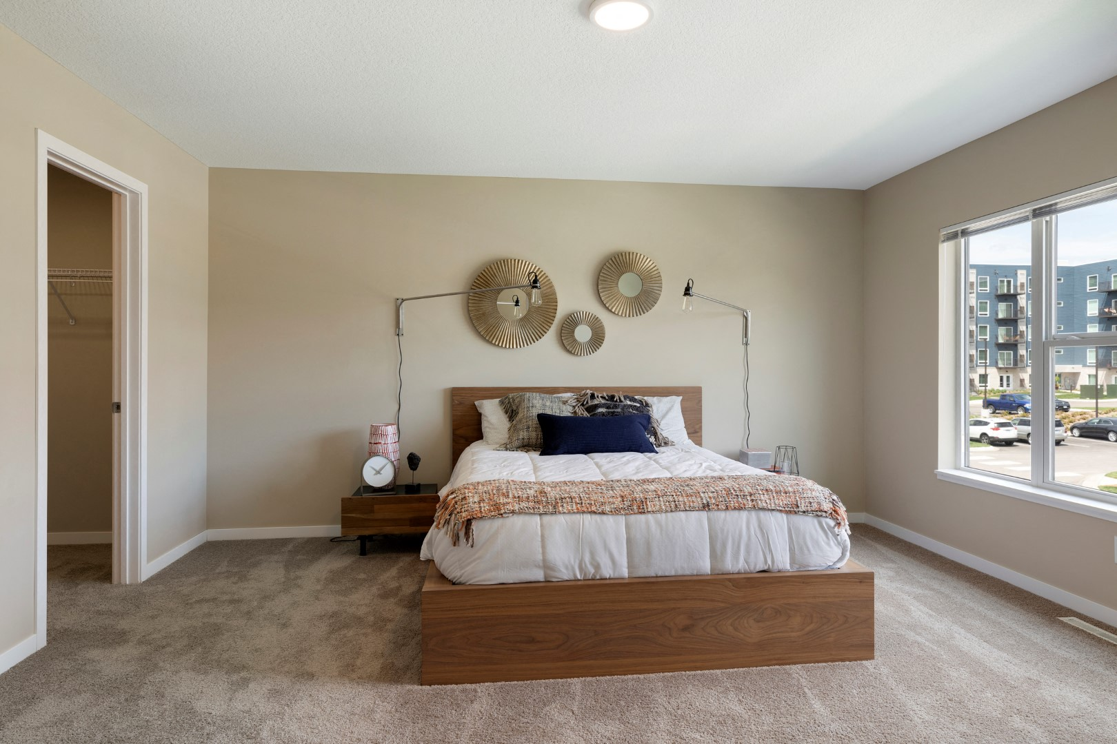bedroom at the liberty town-homes in golden valley mn