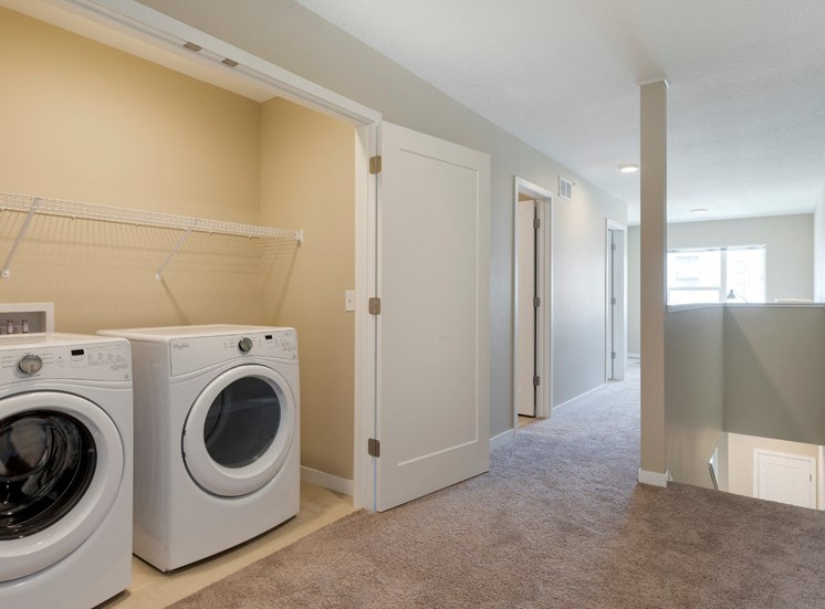 laundry area at the liberty apartments and townhomes in golden valley mn