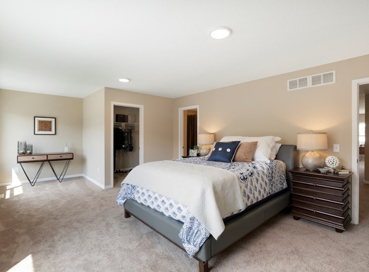 master bedroom at the liberty apartments in golden valley Minnesota
