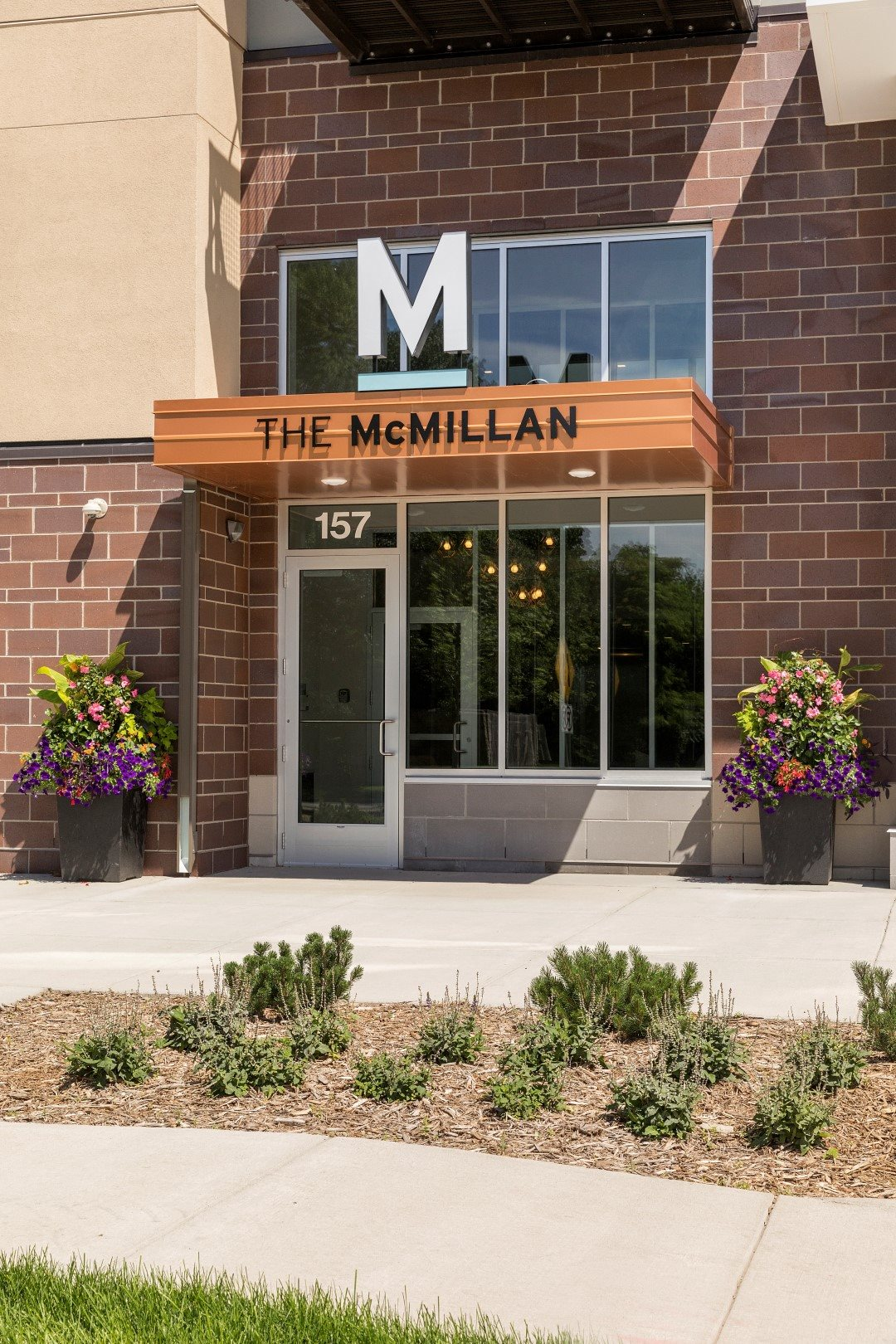 Signage for The McMillan Apartments in Shoreview, MN 55126