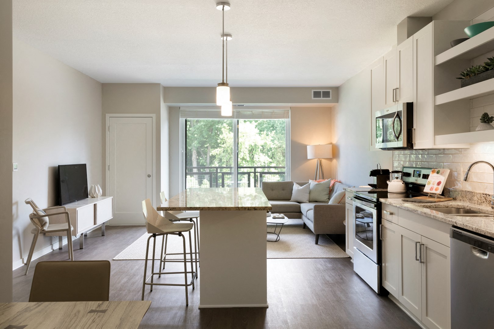 The McMillan Shoreview Model 201 Kitchen Living Room