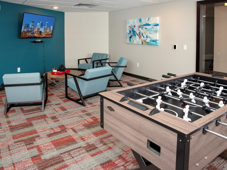 Game Room With Fossball Table at The Sixton, Shakopee, MN