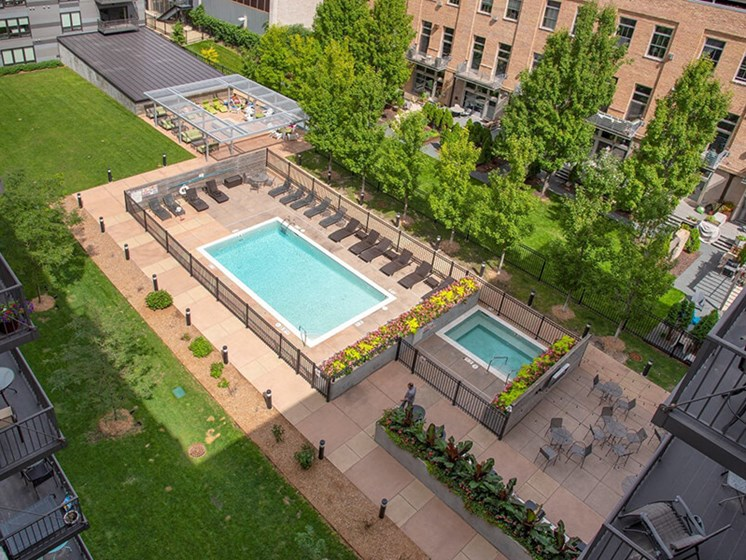 Courtyard_aerial View at Third North, Minneapolis, MN