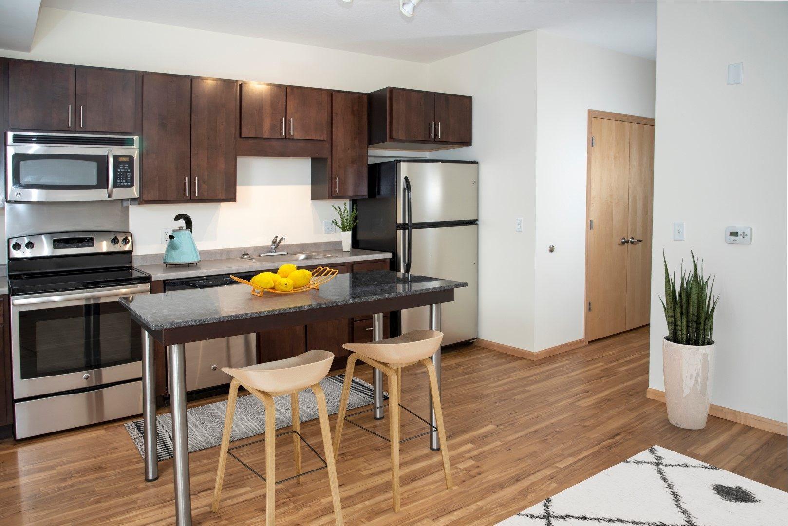 Third North apartments kitchen