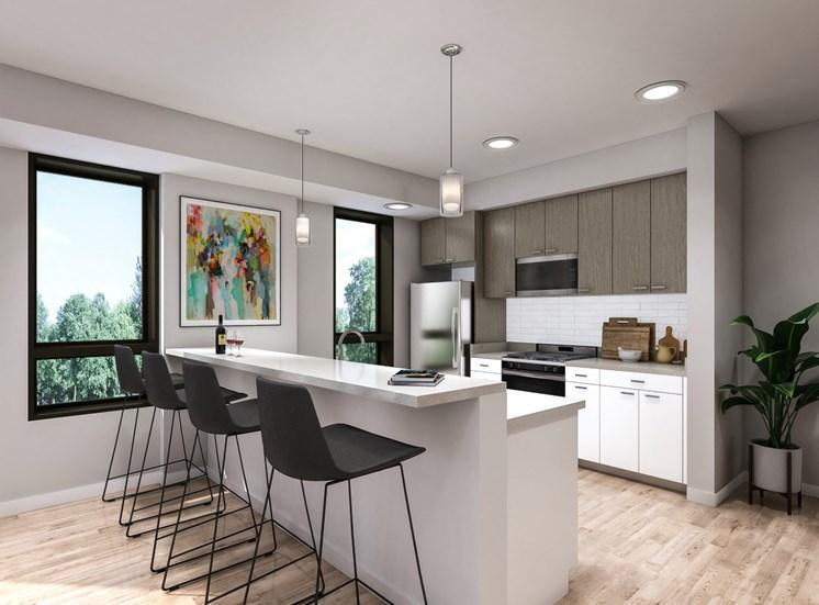 UrbanParkII apartment kitchen rendering