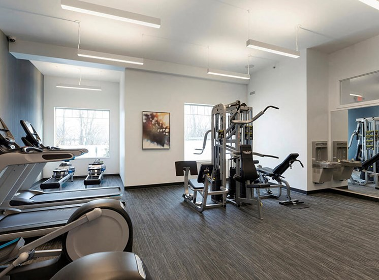 Multi-functional gym with 5 equipment stations for strength training